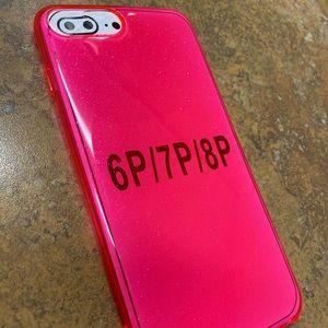 Iphone 6/7/8 plus pink glitter case